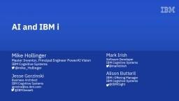AI and IBM i