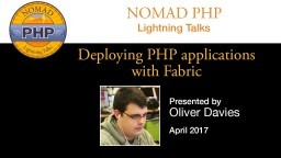 Deploying PHP Applications with Fabric